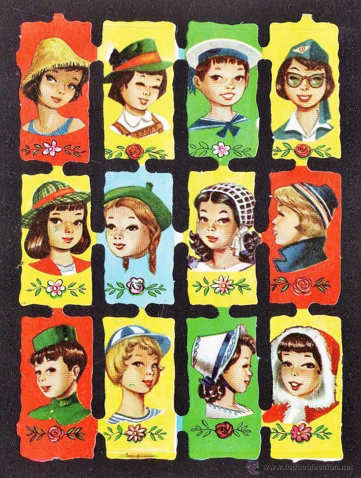 lamina cromo troquelado / de picar - gorros y sombreros - ed. fher - sin estrenar - años 70 - Foto 1