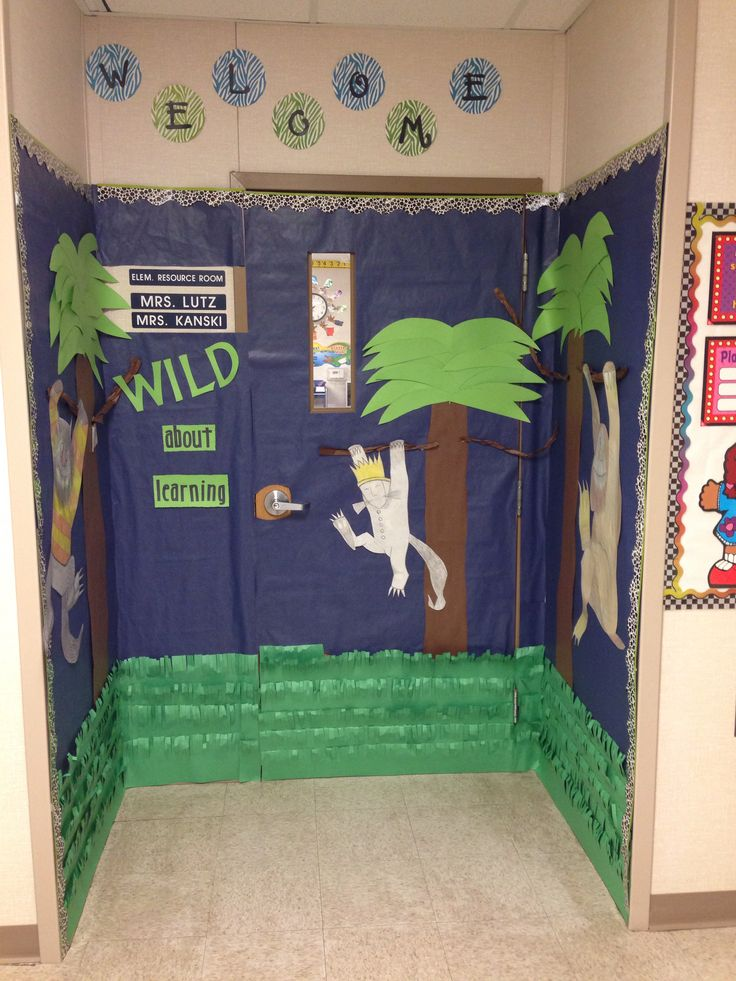 Classroom Decoration Bulletin Board : Where the wild things are door decoration bulletin