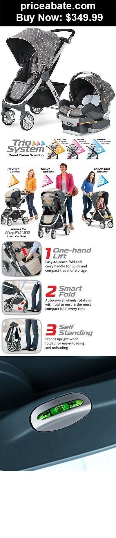 Baby: Chicco Bravo Trio 3-in-1 Baby Travel System Stroller w/ KeyFit 30 Lilla NEW – BUY IT NOW ONLY $349.99