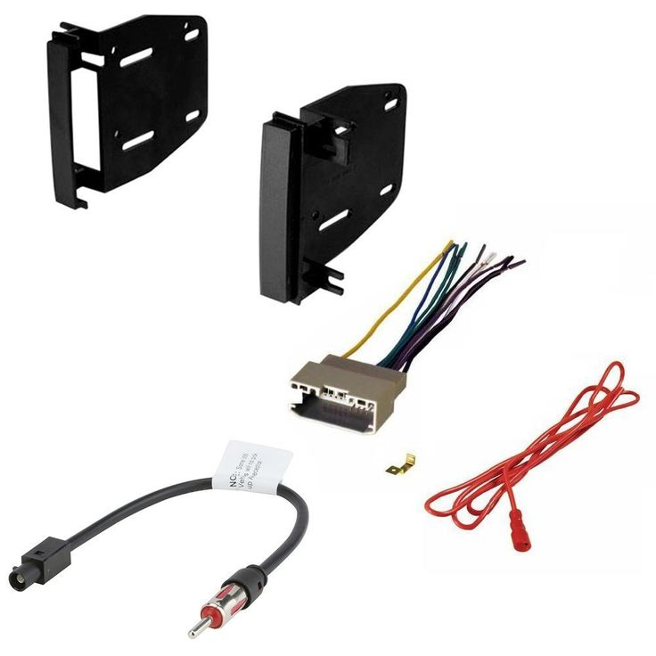 JEEP 2009 - 2014 PATRIOT CAR CD STEREO RECEIVER DASH INSTALL MOUNTING KIT WIRE HARNESS AND RADIO ANTENNA ADAPTER