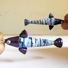 clever paper bead fish