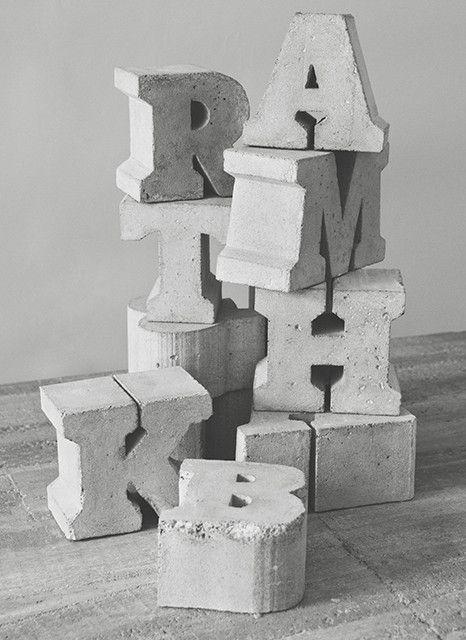 Sigurd Larsen x Playtype — Concrete Letters.