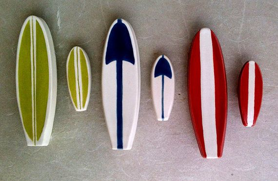 surfboard furniture handle and matching knob set by artcrafthome, $74.00