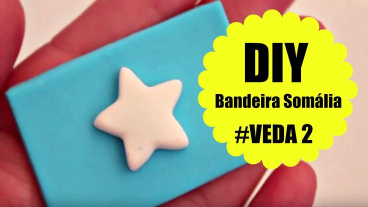 DIY - Bandeira Somália #VEDA 2 - Biscuit / Polymer clay