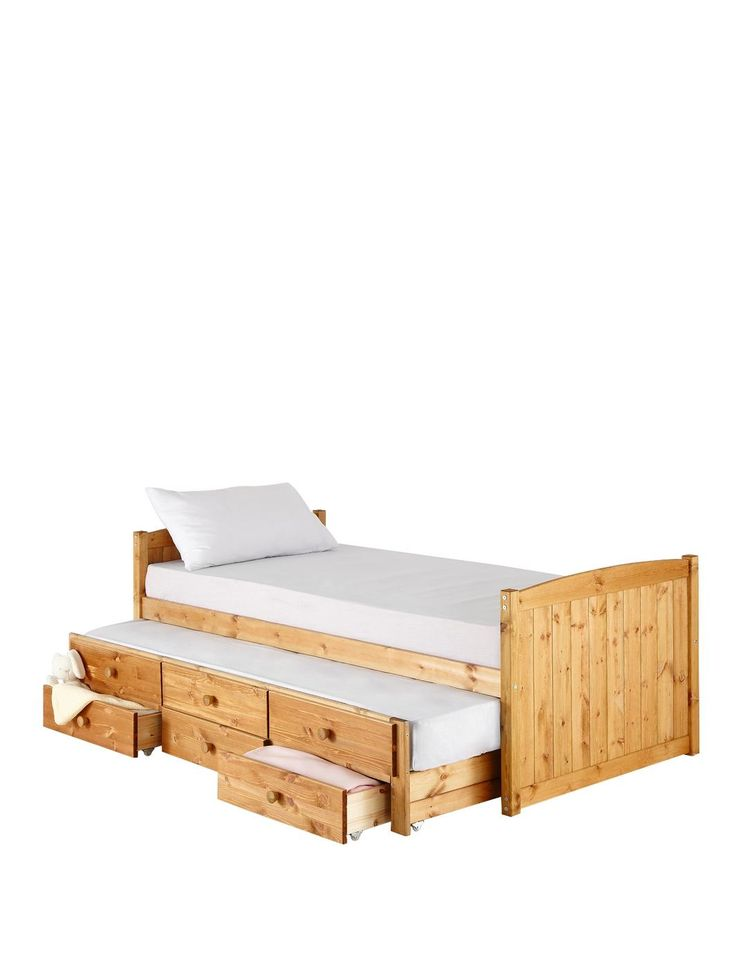 Georgie Single Storage Bed + Pull-out Guest Bed…