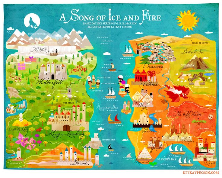 "Mapa de ""A Song of Ice and Fire"" by Kitkat Pecson"
