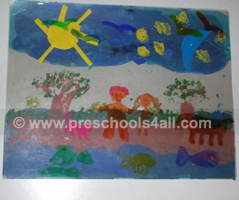 childrens bible crafts, the story of creation, bible crafts for preschoolers, kids bible crafts