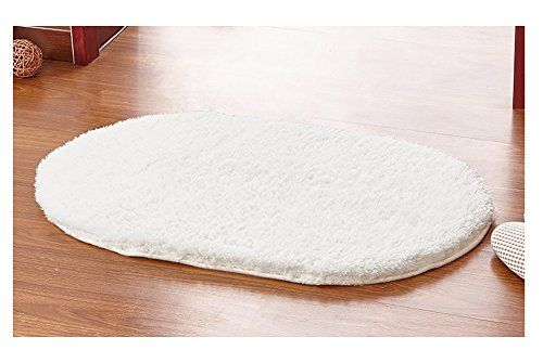 Ultra Soft Floor Carpet Mattress Oval Shaped Decorative Bedroom Stepping Rug Fluffy Stairs Pad With Anti Slip Bottom Water Absorbent Quic Hot New Soft