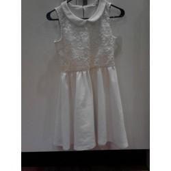 Clotheswap - Peter Pan collared white summer dress