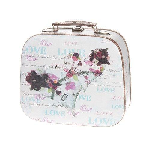 For her. Δερμάτινο αποθηκευτικό κουτί με θέμα τις καρδιές