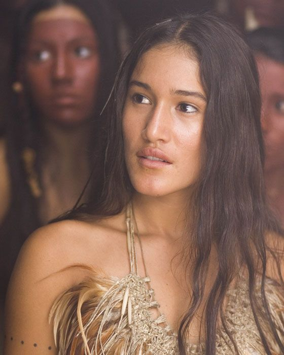 """ah, such a lovely picture of my sweet friend Q'Orianka Kilcher in the movie, """"New World.""""   <3"""