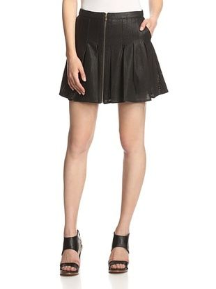 57% OFF AS by DF Women's Rio Perforated Leather Skirt (Black)