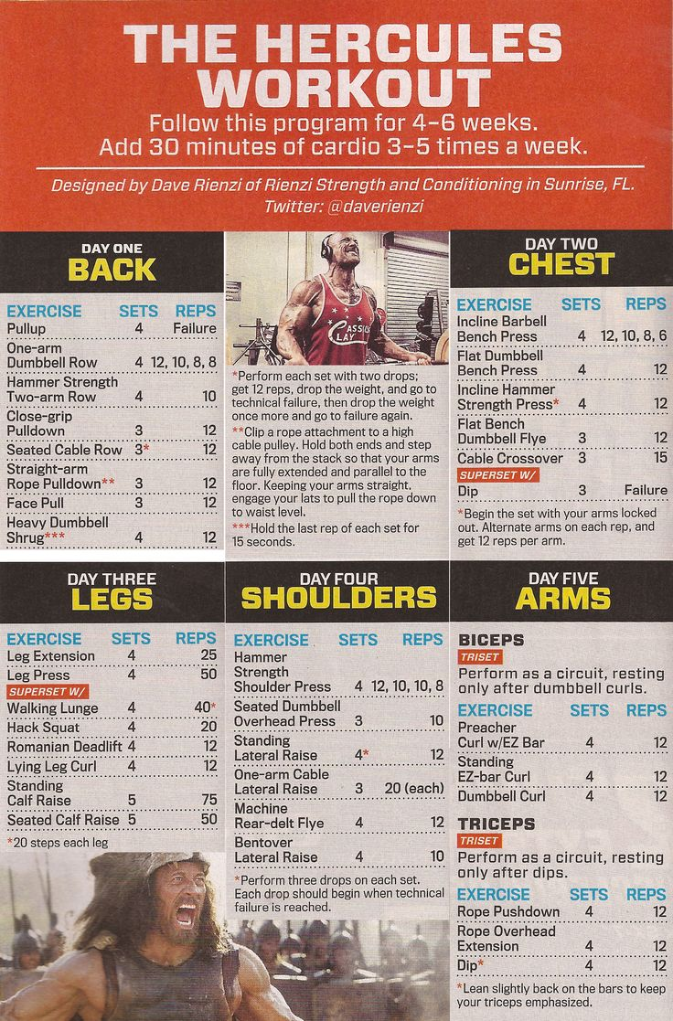 The Hercules Workout (from M&F, Sept. 2014)