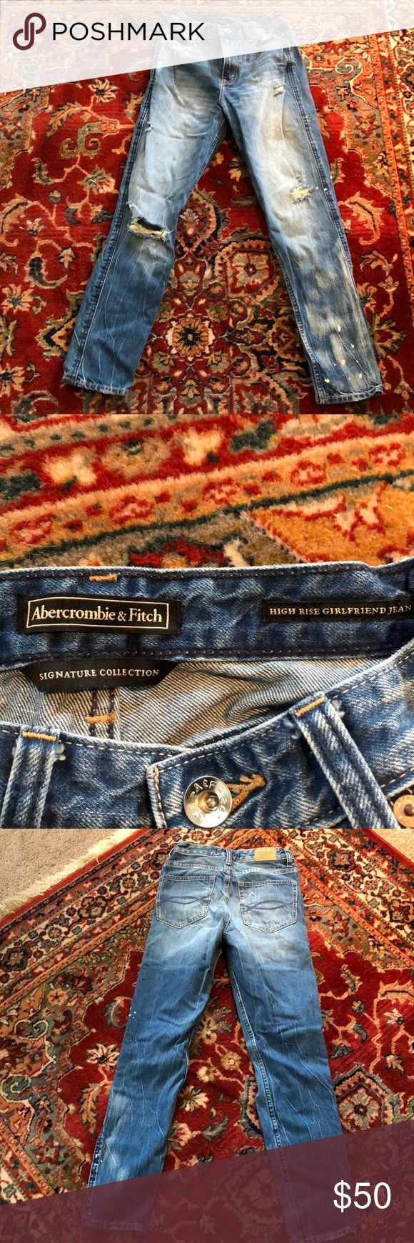 Sz 24 Abercrombie jeans High waisted but not to high  Sits at ankle Abercrombie & Fitch Pants Ankle & Cropped