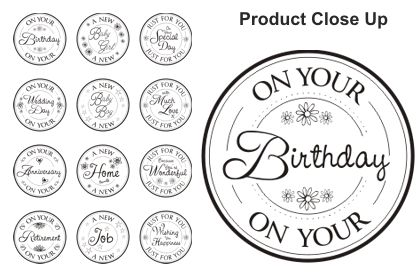 SET 7 For You Circular Sentiments - Lili of the Valley Stamps