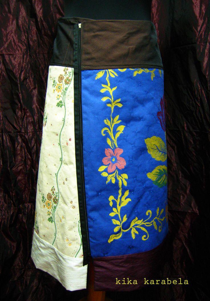 2-piece silk+cotton A-skirts / create your own combination ! AGATHI E.E.-KIKA / Clothing Store - 27 , K.OIKONOMOY str. 10683 ATHENS , GR contact : +30 210 8223604 / agathi.ee@gmail.com