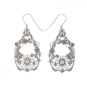 SS Mexican Floral Earrings Lge