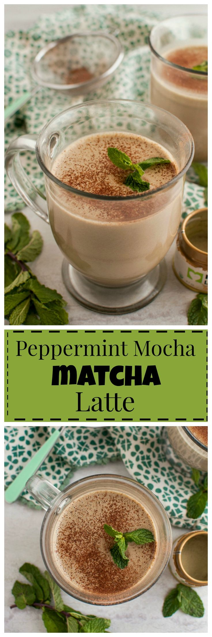 Peppermint Mocha Matcha Latte #vegan #paleo #clean #realfood