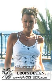 Ravelry: 69-1 Crocheted top in Safran pattern by DROPS design
