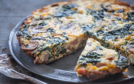 A frittata is the savvy cook's solution for leftovers, including vegetables, Easter ham, Passover brisket, roasted chicken, salmon or pasta. It's also a perfect party appetizer, since it's equally delicious served warm, at room temperature or cold.
