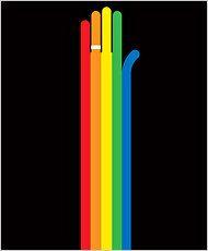 new york ties the rainbow knot! nice.: Rainbows Knot, Nytim Illustrations