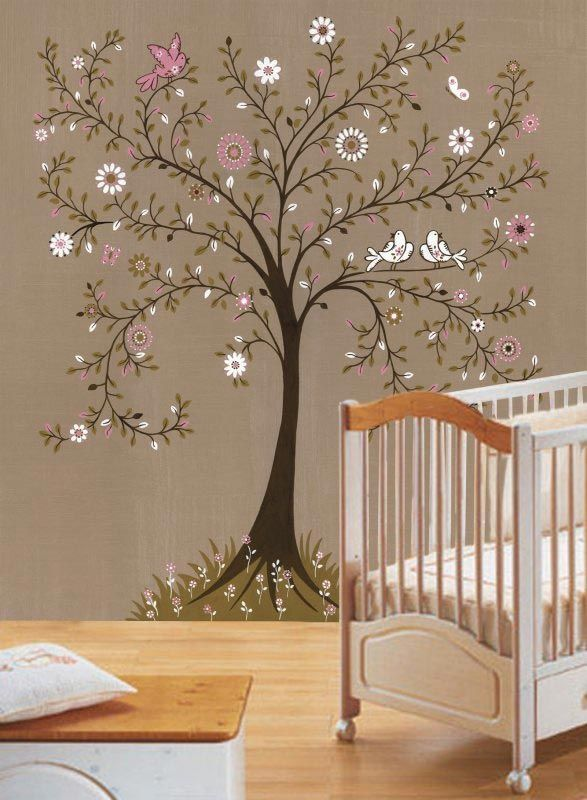 17 best ideas about nursery wall murals on pinterest for Baby nursery tree mural