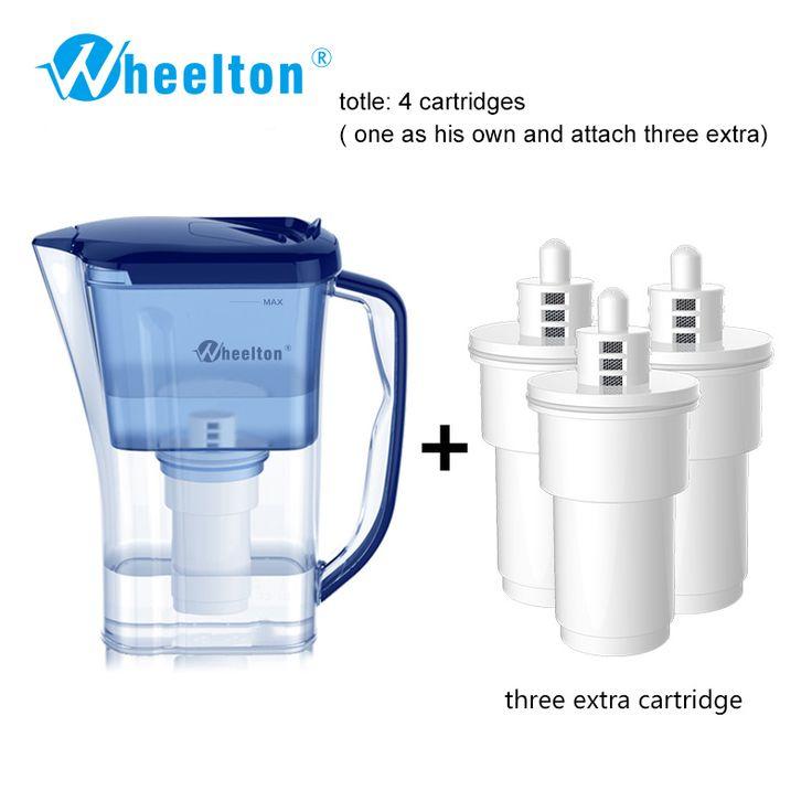2016 rumah tangga dan piknik ganda filter ketel dan melampirkan ekstra 3 cartridge filter air pemurni air brita gratis pengiriman
