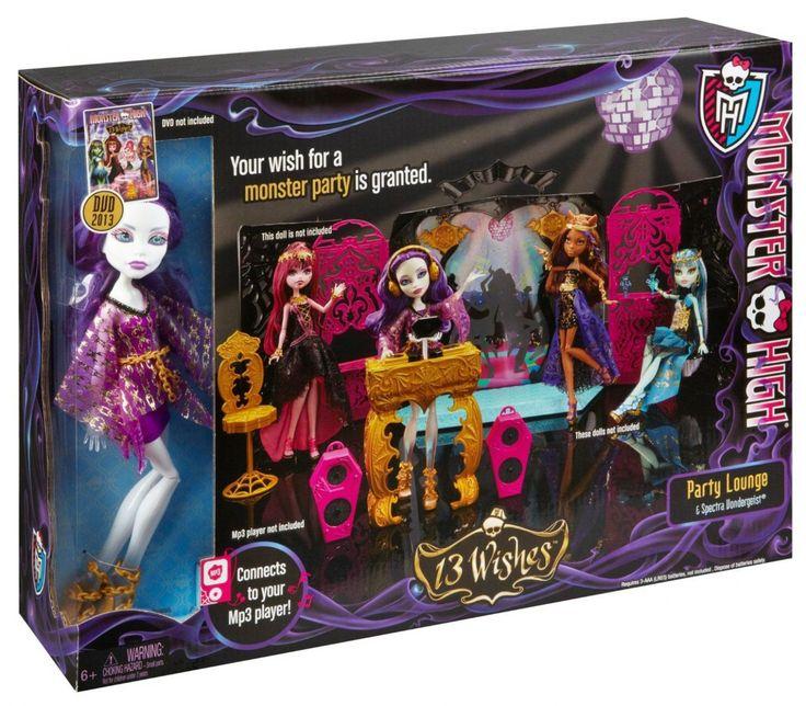 Monster High, Party Lounge avec spectra vander geist. 54.99$ Achetez-le info@laboiteasurprisesdenicolas.ca 450-240-0007