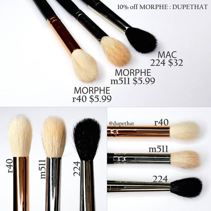 MAC 224 = Morphe m511 & r40 brush dupe #brush #dupe