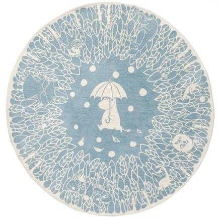Tapis chenille Moomin 160 cm  Moumine / Muumi / Mumintroll a été crée par Tove Jansson   Moomin Recollections by Rika Kawato