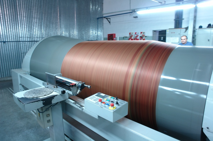 One of the warping machines.