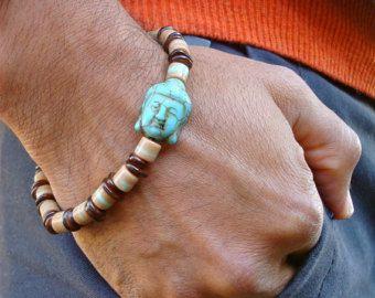 Herren geistlichen tibetische Armband mit Frieden und