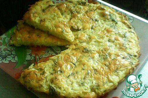 Пирог-запеканка из тертого картофеля с сыром и чесноком - кулинарный рецепт