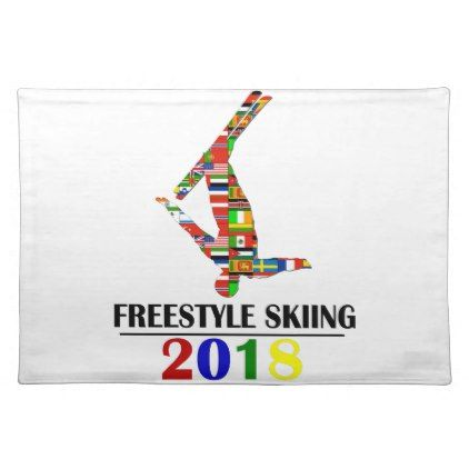 2018 FREESTYLE SKIING CLOTH PLACEMAT - winter gifts style special unique gift ideas