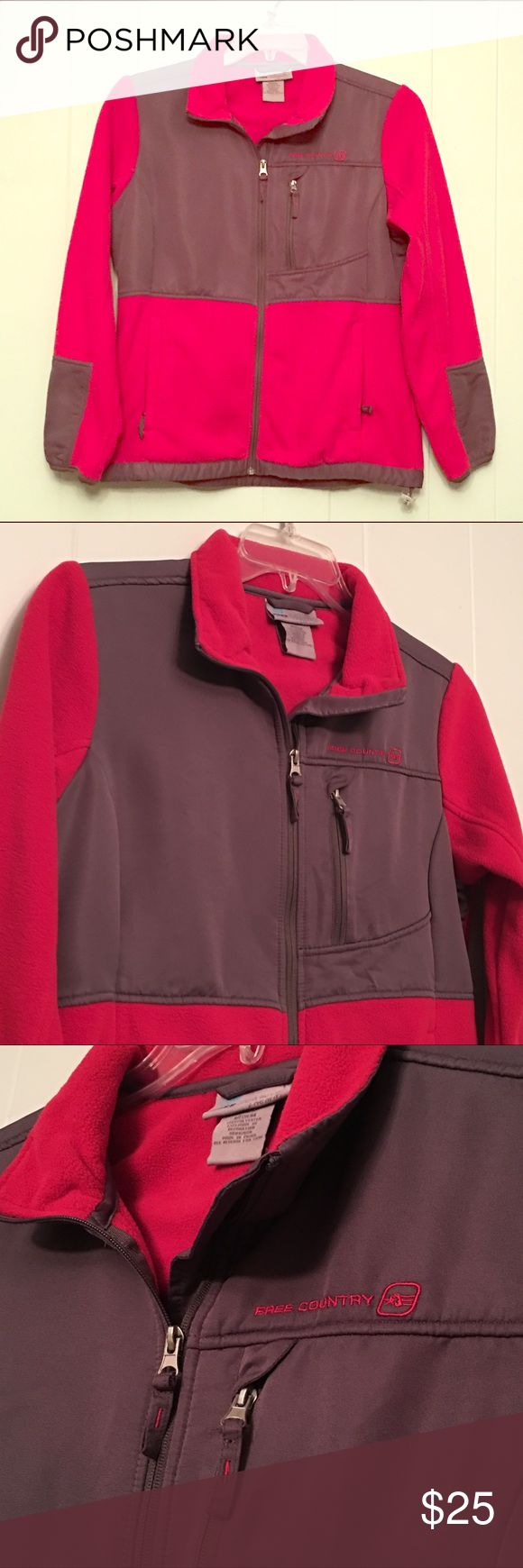 Free Country Fleece Free Country Fleece, Nearly New Condition. 100% Polyester. Free Country Jackets & Coats