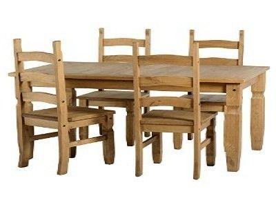 Corona, fixed dining  Set , 4 Chairs