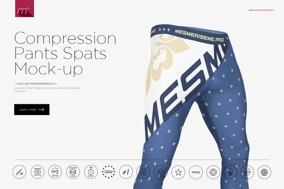 Men Compression Pants Spats Mock-up by mesmeriseme.pro on @creativemarket