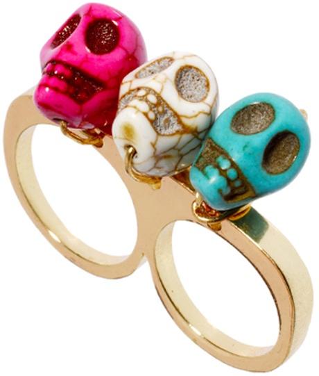 Skull Knuckle Ring