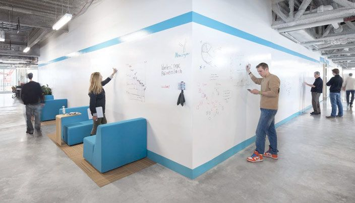 Product name: Idea Paint. Company: Idea Paint. Why we like it: Can be used creatively to add functionality to spaces and make them more interesting and useful