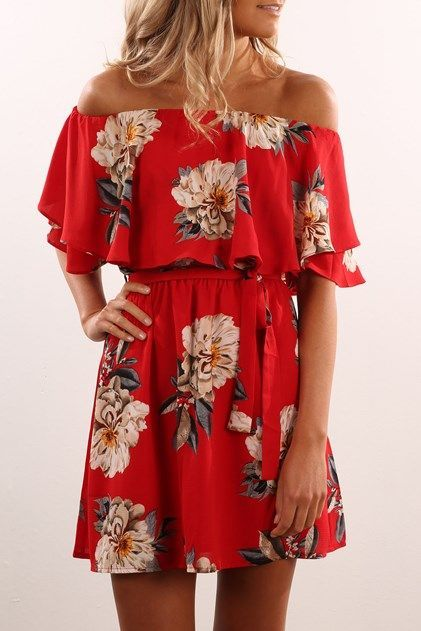 Best 25  Red floral dress ideas on Pinterest | Red dress casual ...