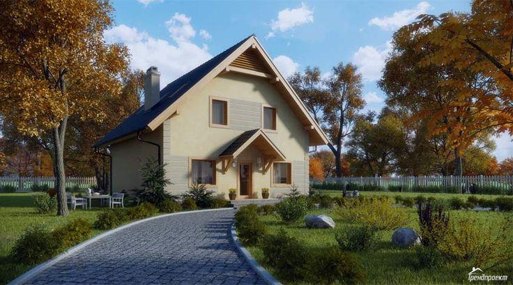 Тренд-209 Двухэтажный классический дом