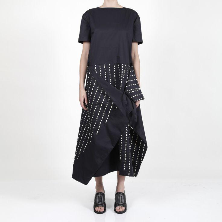 Rama Dress Yel/Nvy