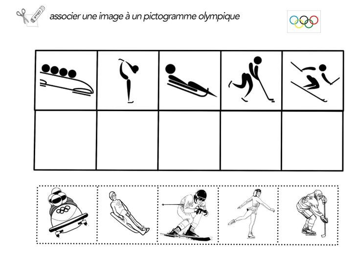 Ma Tchou team: fiches Jeux olympique ready to print !!