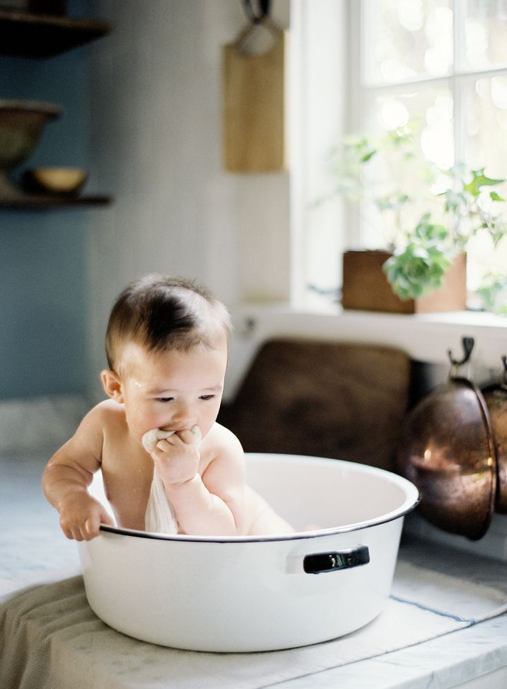 Luminous Baby Portraits at Six Months by Photographer and Stylist Jen Huang | JenHuangBlog.com | Neutral and Authentic family portrait moments captured on film