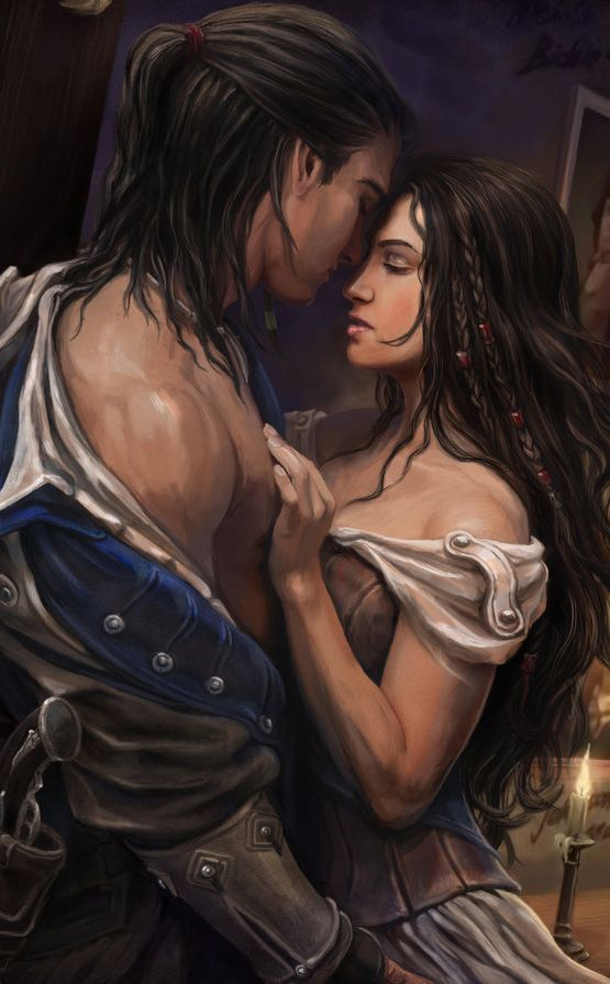 Jet/Ella early days :P Assassins Creed 3 - Temptation by *KejaBlank on deviantART (cropped for detail)