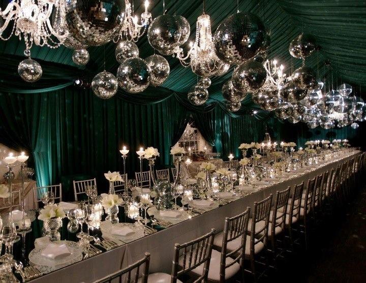 Love This Reception Idea Especially The Emerald Green