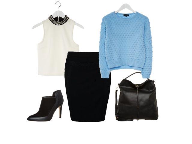Błękitny sweter