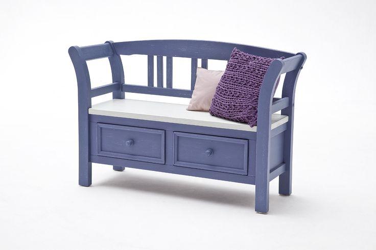 Sitzbank LaMer III Brilliantblau Passend zum Möbelprogramm LaMer 1 x Sitzbank mit 2 Schubkästen Maße: B/H/Tca. 120 x 80 x 40 cm Korpus / Front:...
