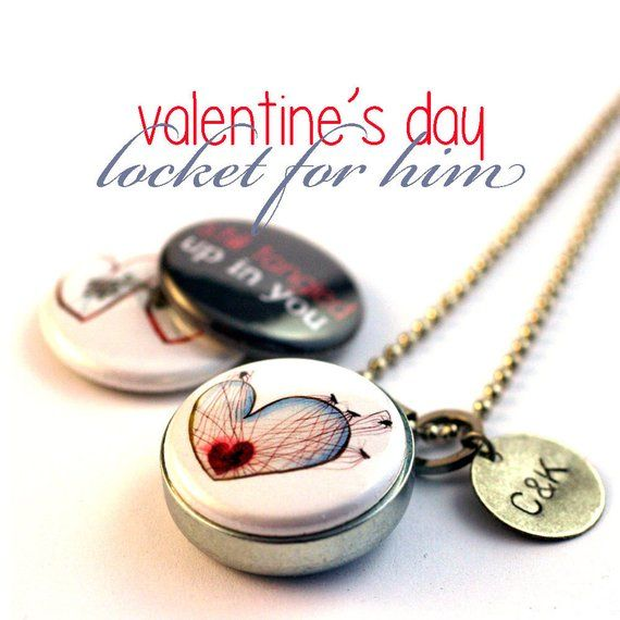 Valentine's Day Locket for Him, Guy Gift, Gift for Boyfriend, Personalized Boyfriend Gift, Magnetic,