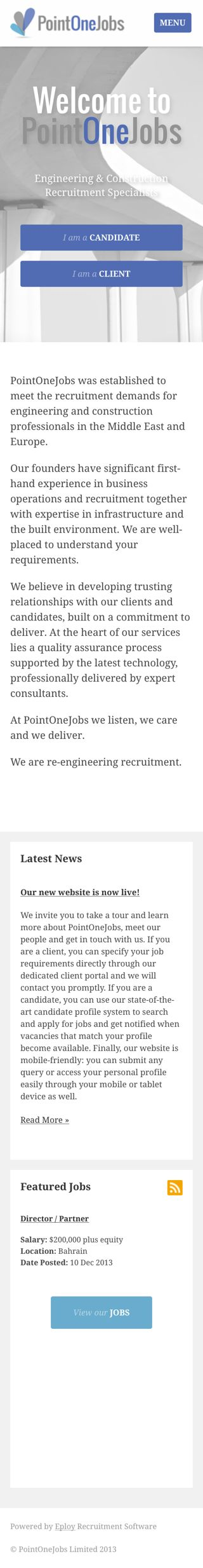 Point One Jobs mobile career site